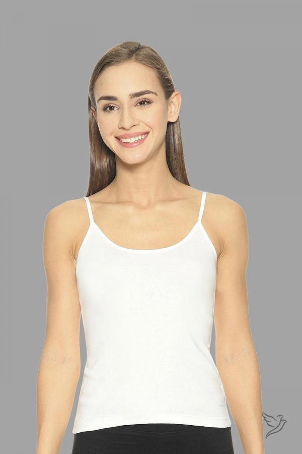Twinbirds Pearl White Spaghetti Cami With Adjuster