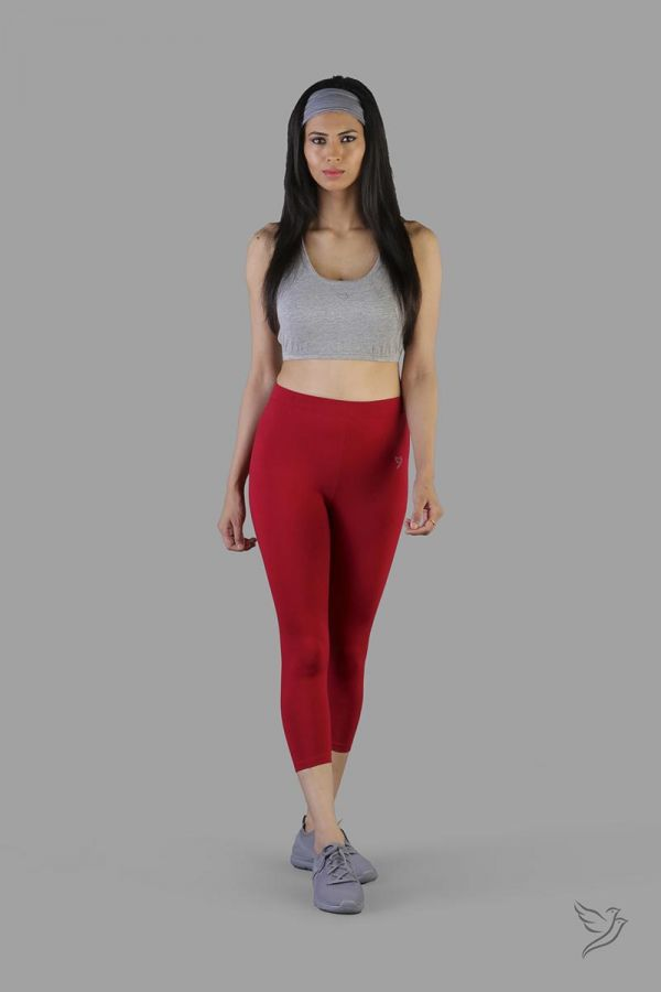 Twinbirds La Burgandy women capri legging
