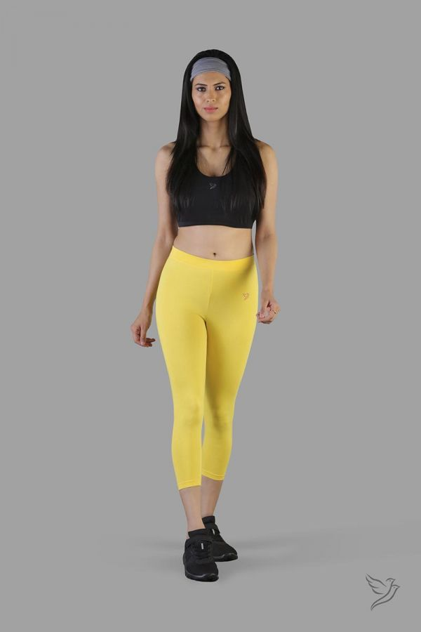 Twinbirds Mari Gold women capri legging