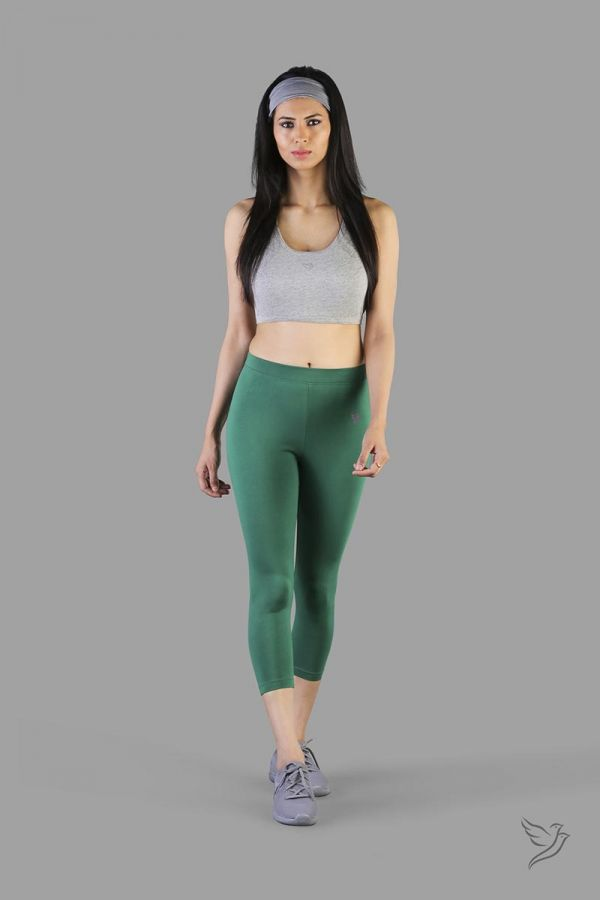 Twinbirds New Leaf women capri legging