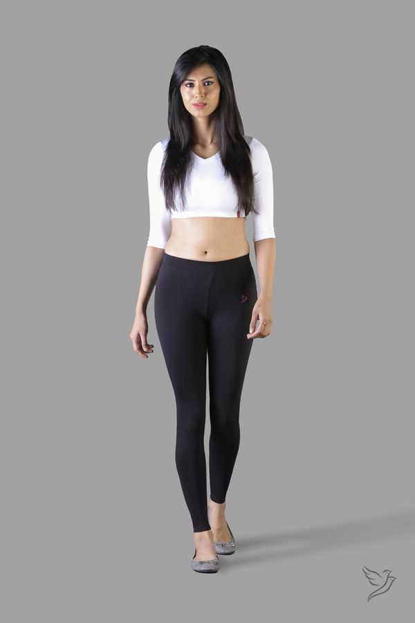 Twinbirds Carbon Black women Full Length Legging