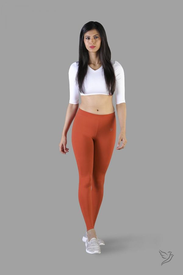Twinbirds Coral Flame women Full Length Legging