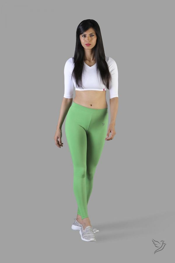 Twinbirds Green Grass women Full Length Legging