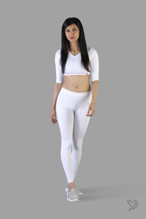 Twinbirds Pearl white women Full Length Legging