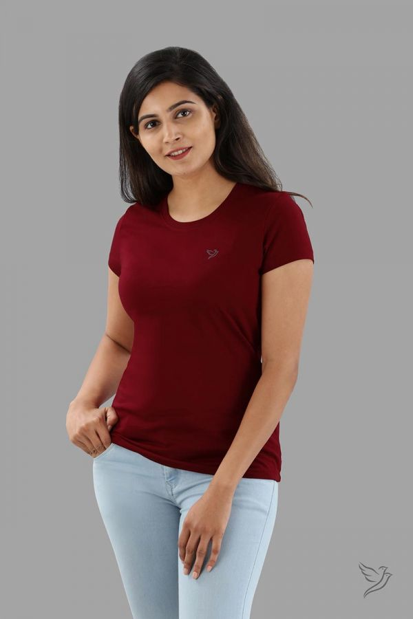 Twinbirds Cherry Berry Women Slim Fit Signature Tee