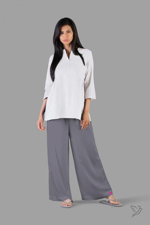 Twinbirds Anthrazite Grey Women Wide Leg Palazzo