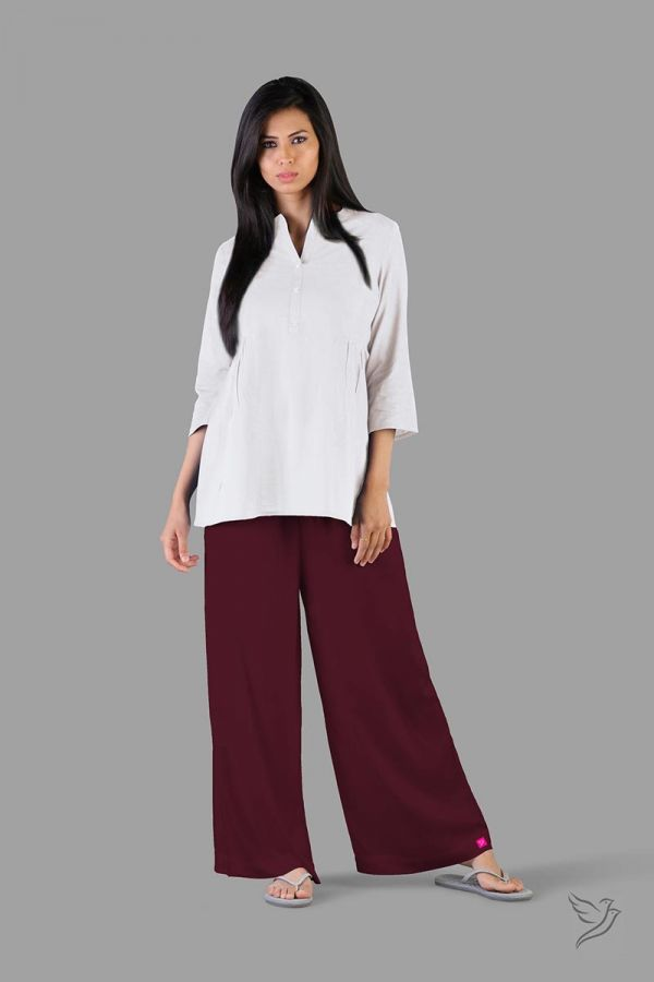 Twinbirds Grape Vine Women Wide Leg Palazzo
