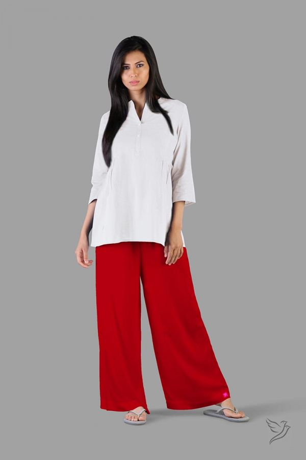 Twinbirds Lip stick Women Wide Leg Palazzo