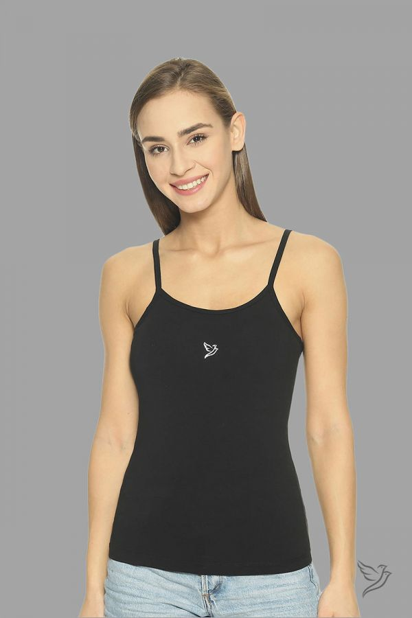 Twinbirds Black 2 In 1 Cami With Padded Bra