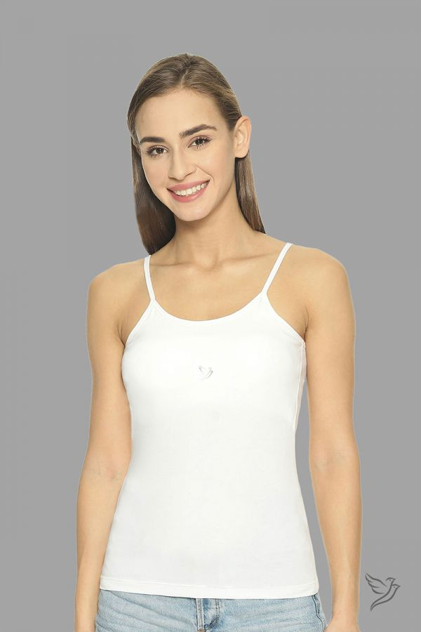 Twinbirds White 2 In 1 Cami With Padded Bra