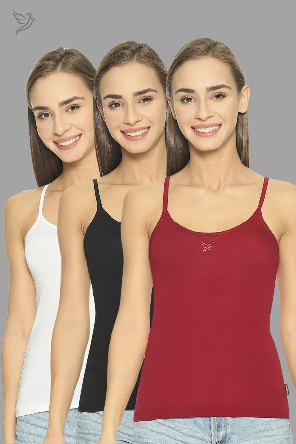 Twinbirds Camisoul With Adjuster Combo (Black/White/Red)