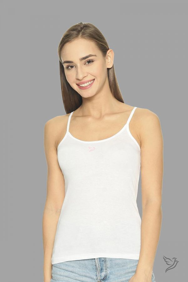 Twinbirds Pearl White Camisole With Adjuster