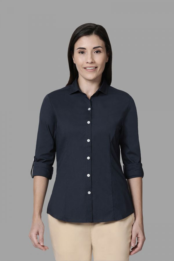 Twinbirds Dark Grey Women Womens Workwear Shirt
