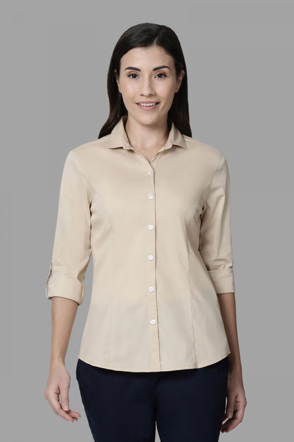 Twinbirds Tan Women Womens Workwear Shirt