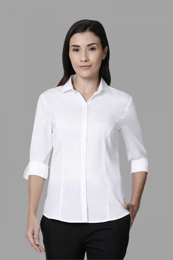 Twinbirds White Women Womens Workwear Shirt